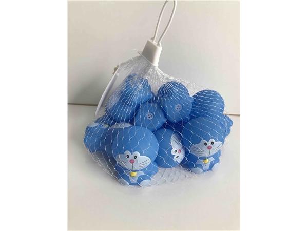 12 enamel Blue Cats