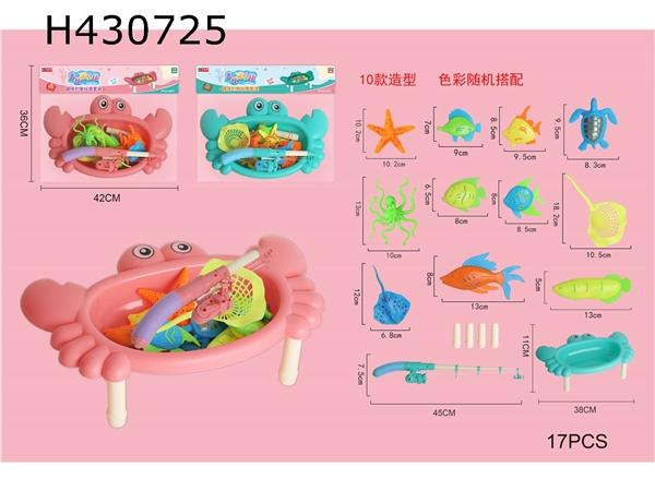 Fun cute crab platform fishing suit