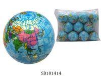6.3cmPU球(地球) 12PCS
