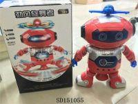 电动跳舞机器人(灯光音乐、会跳舞)