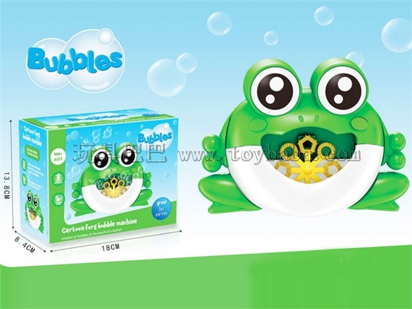 Electric automatic frog bubble machine