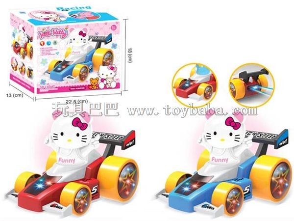 KT cat electric universal 3D lantern racing car (without battery pack) red and blue