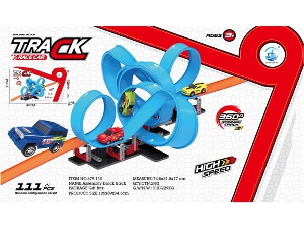 High speed return DIY self loading building block track