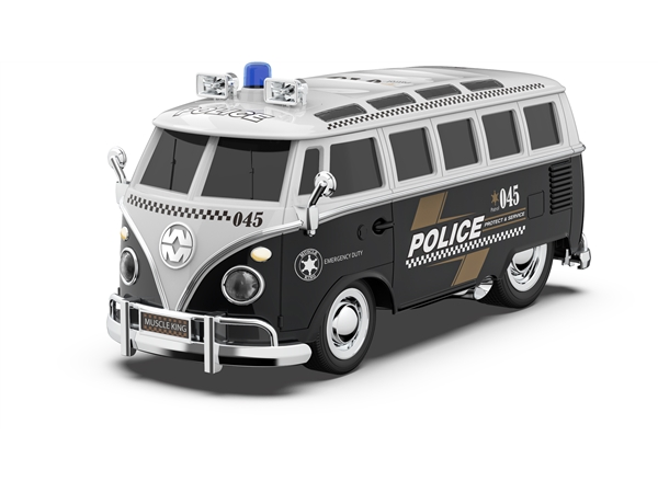 Six way remote control CMB police car with light and sound