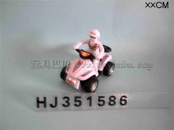 Pull wire beach motorcycle police car white