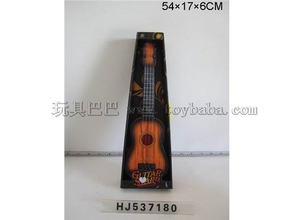Guitar heat transfer yellow wood grain