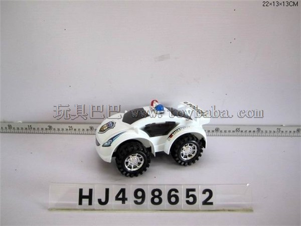 Pull wire police car with lamp