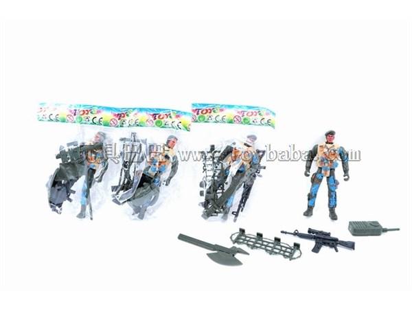 Soldier + Gun + accessories