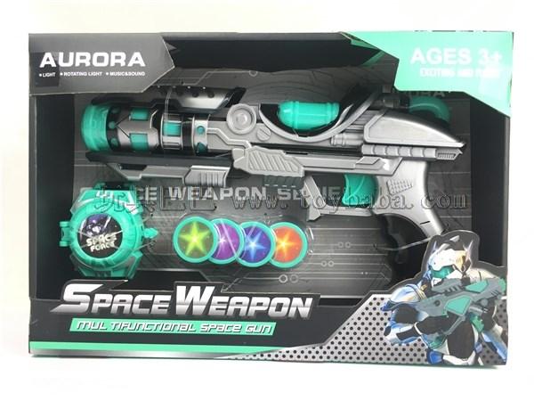 Spray paint lighting IC space gun with transmitter