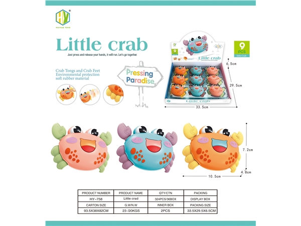 Press the little crab