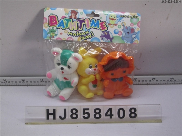 Colorful bear, radish rabbit, cloth doll