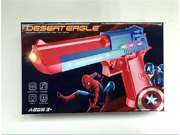 Desert Eagle electric light vibration voice gun (spider man / Captain America)