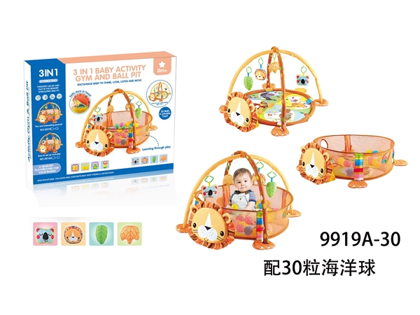 3 in 1 lion game pool with 30 balls / DOLL ring