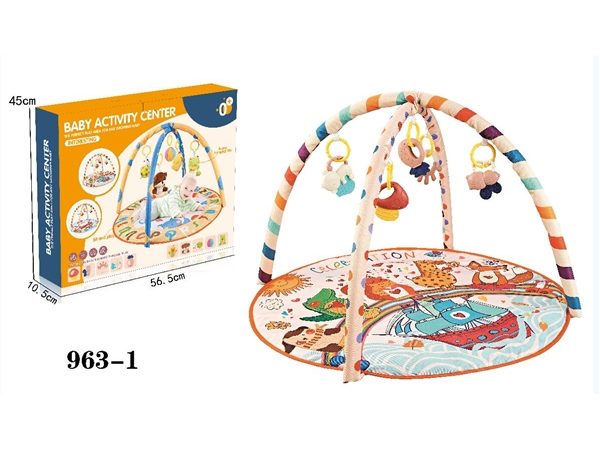 Baby carpet fitness rack with Plastic Bell