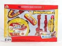 大铃鼓+二支笛子+吉它+口琴+小吹号+萨克斯