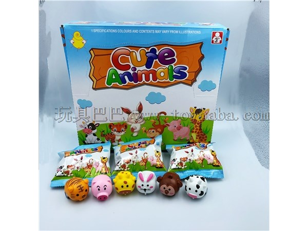 Display box blind bag Huili small animal toys six mixed packages