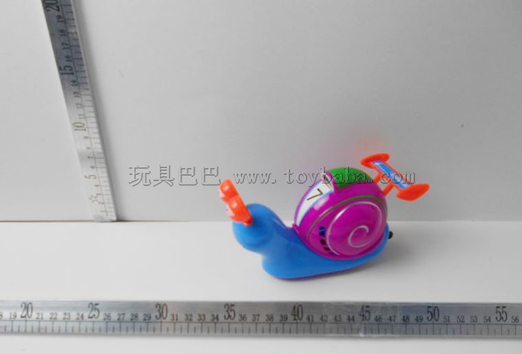 Cartoon pull light speed snails