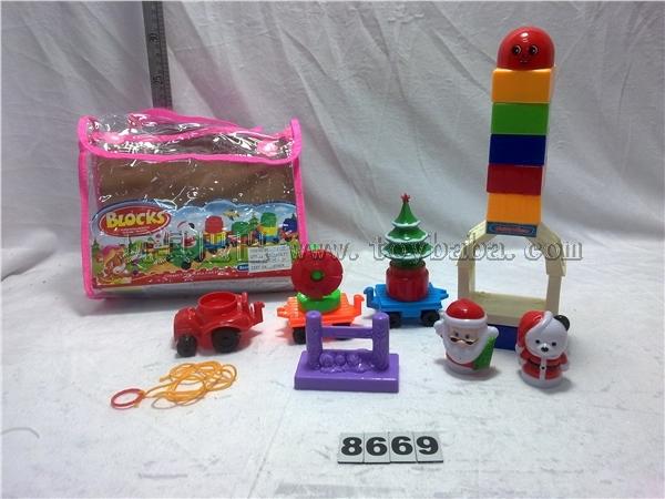 Handbag puzzle Christmas building block