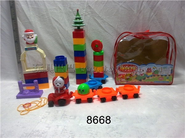 Backpack puzzle Christmas building block
