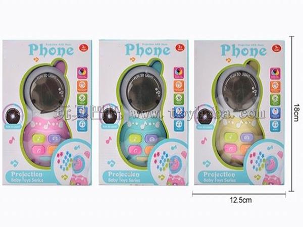 Children's 3D light music mobile phone educational early childhood toys
