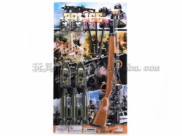 Police suit simulation military model Toy Puzzle house toy