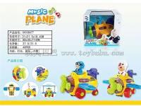 万向灯光音乐飞机 飞机+人仔组合套装 仿真飞机模型玩具
