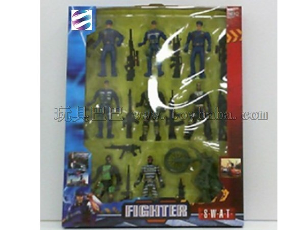 Military Set Toy military soldier + toy gun combination set toy