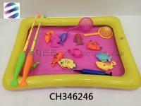 儿童趣味钓鱼套装玩具 室内外钓鱼组合套装