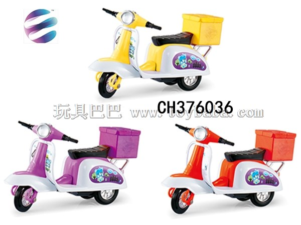 Back force motorcycle with tailbox back force motorcycle simulation mini motorcycle model toy