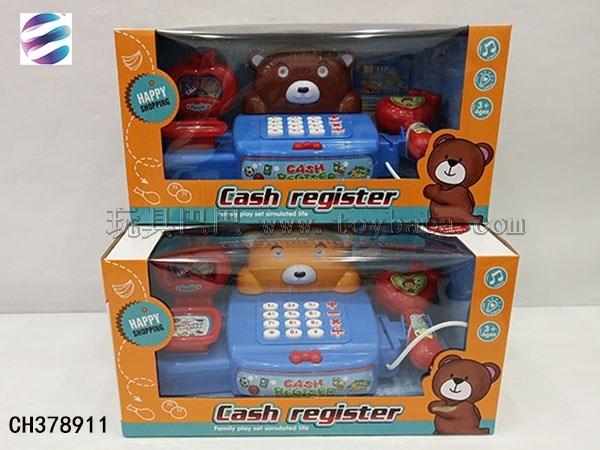 Cartoon cash register toy fun family cash register set parent-child interaction