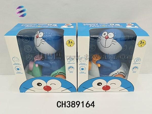 New hot selling toy pressure Doraemon alloy car 2-color hybrid