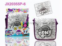 PONY 小马 DIY彩绘水彩背包+彩绘拼图(5色可洗水笔)