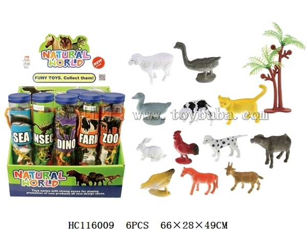 12 2-inch farms + 1 coconut tree (20 small cylinders / box)