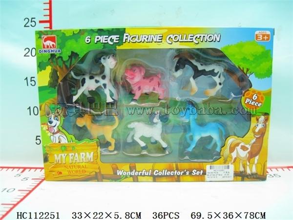 6 4-inch environmental cartoon pastures