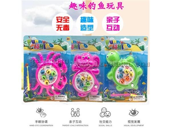 Children's cartoon windup fishing toy