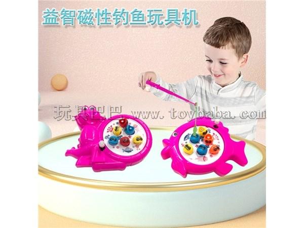 Children cartoon windup fishing toys windup fishing toys windup magnetic fishing plate parent-child educational interact