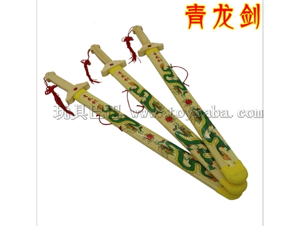 Stall selling children's toys wooden Qinglong sword ancient military model mold toy manufacturers direct sales and whole