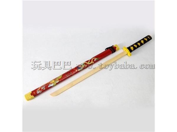 Wholesale wooden new samurai sword toy simulation performance props manufacturer direct sales