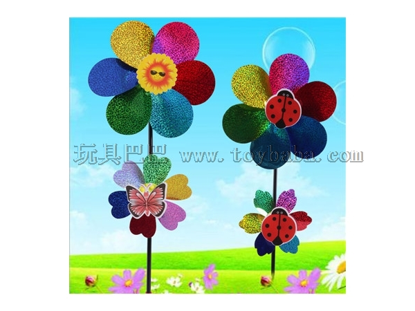 New double Sequin windmill children's stall hot toy wholesale