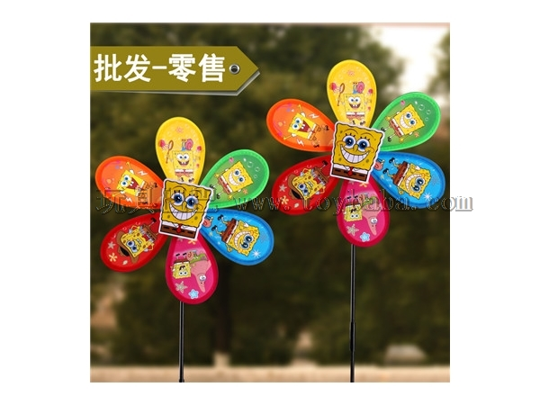 Manufacturers selling new stalls selling toys wholesale cartoon monolayer windmill