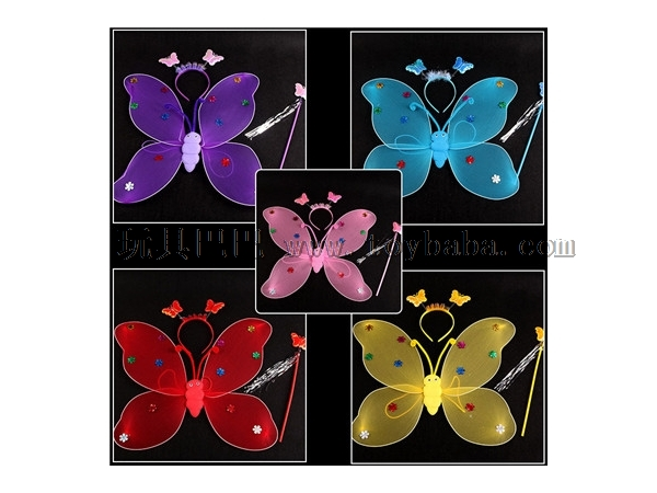 Toy wholesale single-layer butterfly wings three piece set of children's gifts