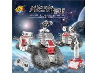 龙越 创意遥控机器人DIY益智拼插积木儿童玩具