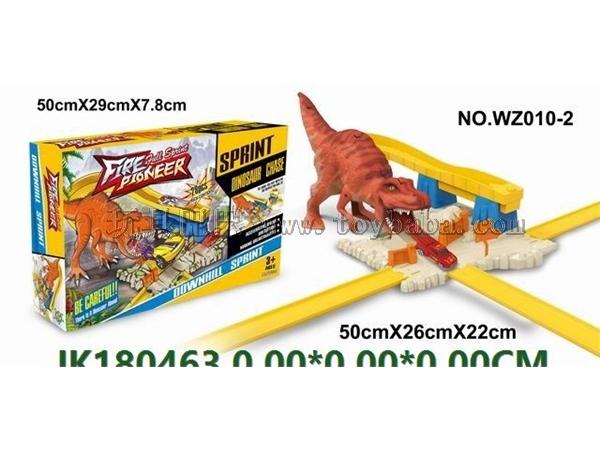 Dinosaur scene ejection orbit
