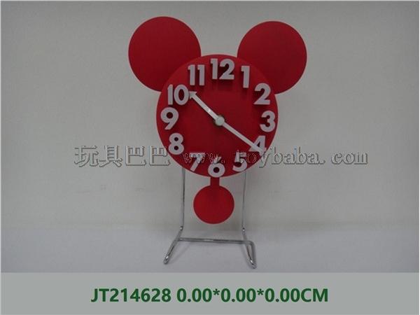 Art Mickey head stereo digital iron stand clock