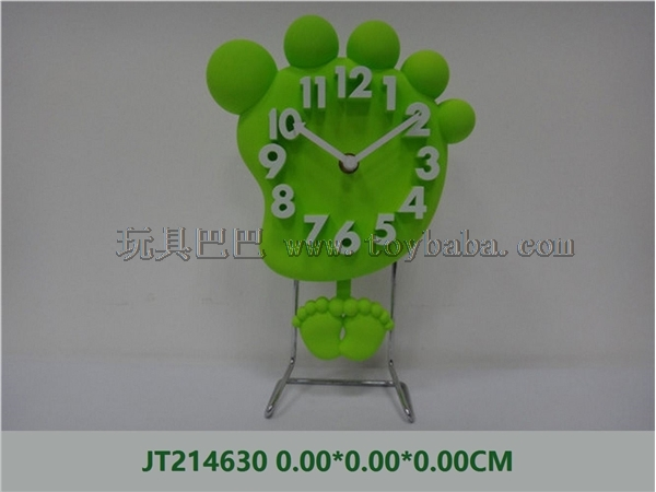 Artistic foot stereo digital iron stand clock
