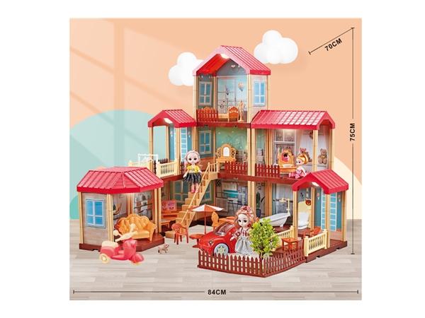 Children's house girl toy Barbie light villa house