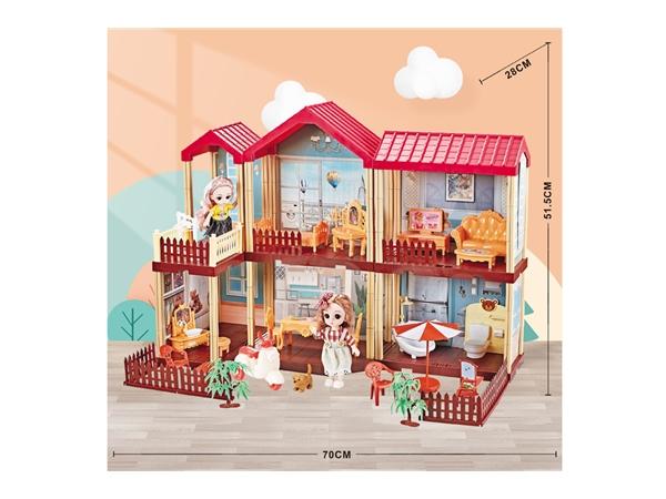 Princess Castle girl family house toy house Barbie Princess House Luxury Villa birthday gift