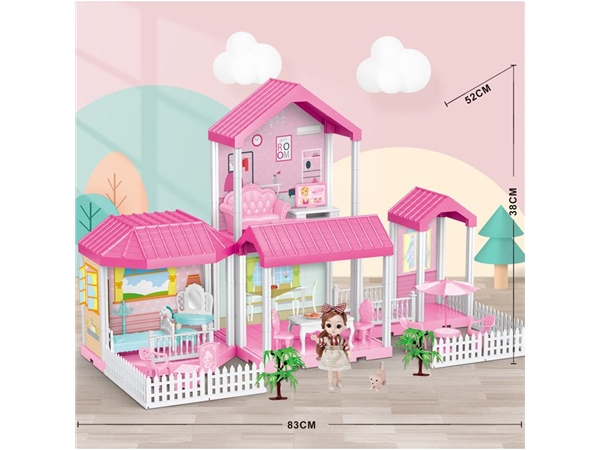 Self installed villa + 6-inch Barbie 1 family toy self installed educational toy
