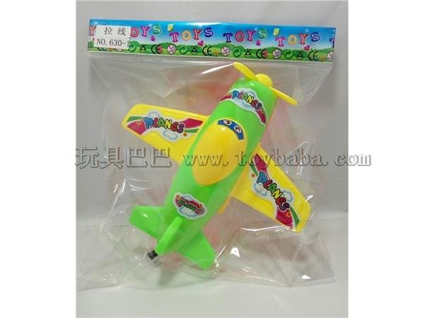 Solid color drawing cartoon aircraft