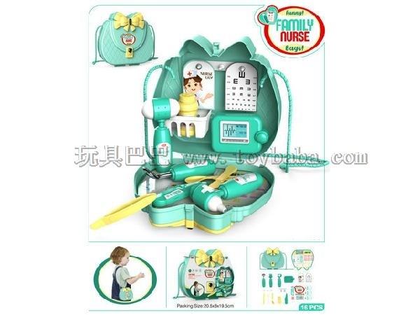 Medical toys children's play - single shoulder bag, monochrome, no color mixing